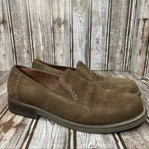 Rockport nubuck leather loafers- brown - size 6.5 wide
